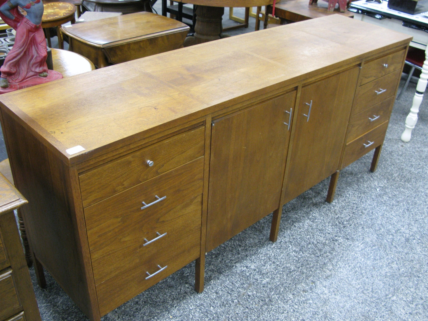 Lane Furniture Co Mid Century Solid Oak By Findmichael On Etsy