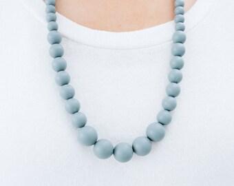 SALE Teething Necklace Silicone Nursing Necklace Erin - Slate