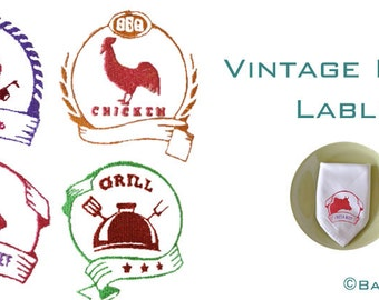 Embroidery Design Vintage Food