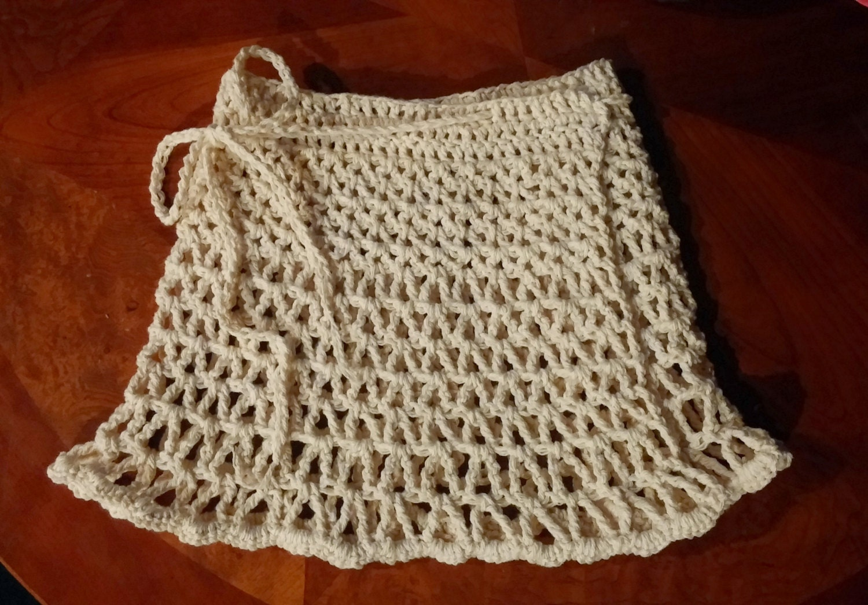 Beach Wrap Skirt crochet skirt crochet by CrochetingwithClaire