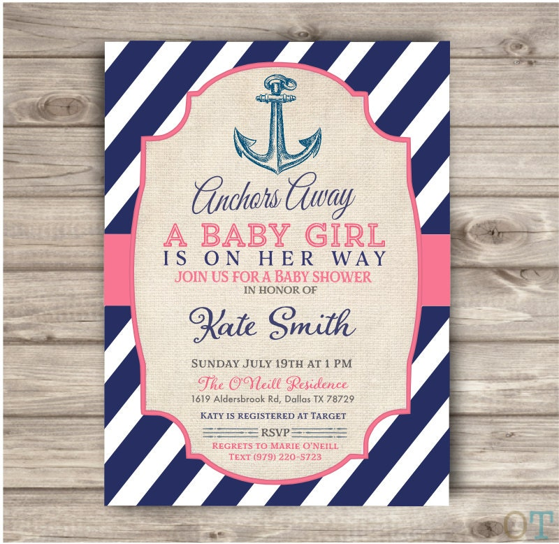 Nautical Baby Shower Invitations For Girl – diabetesmang.info