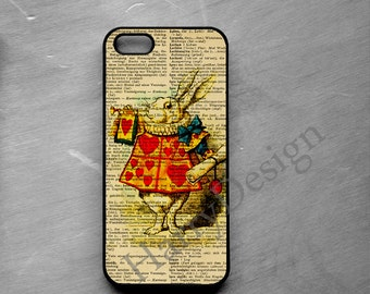 White Rabbit iPhone 6, iPhone 6 Plus case, iPhone 4 4s 5 5s 5c case, Samsung Galaxy S3 / S4 / S5 / S6, Samsung Note 2, Note 3, Note 4 case