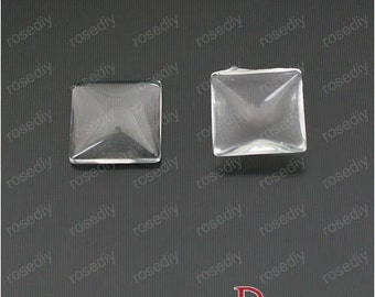 50pcs 12mm Clear Glass Transparent Clear Oblate Cabochon Cameo Cover Cabs M25538