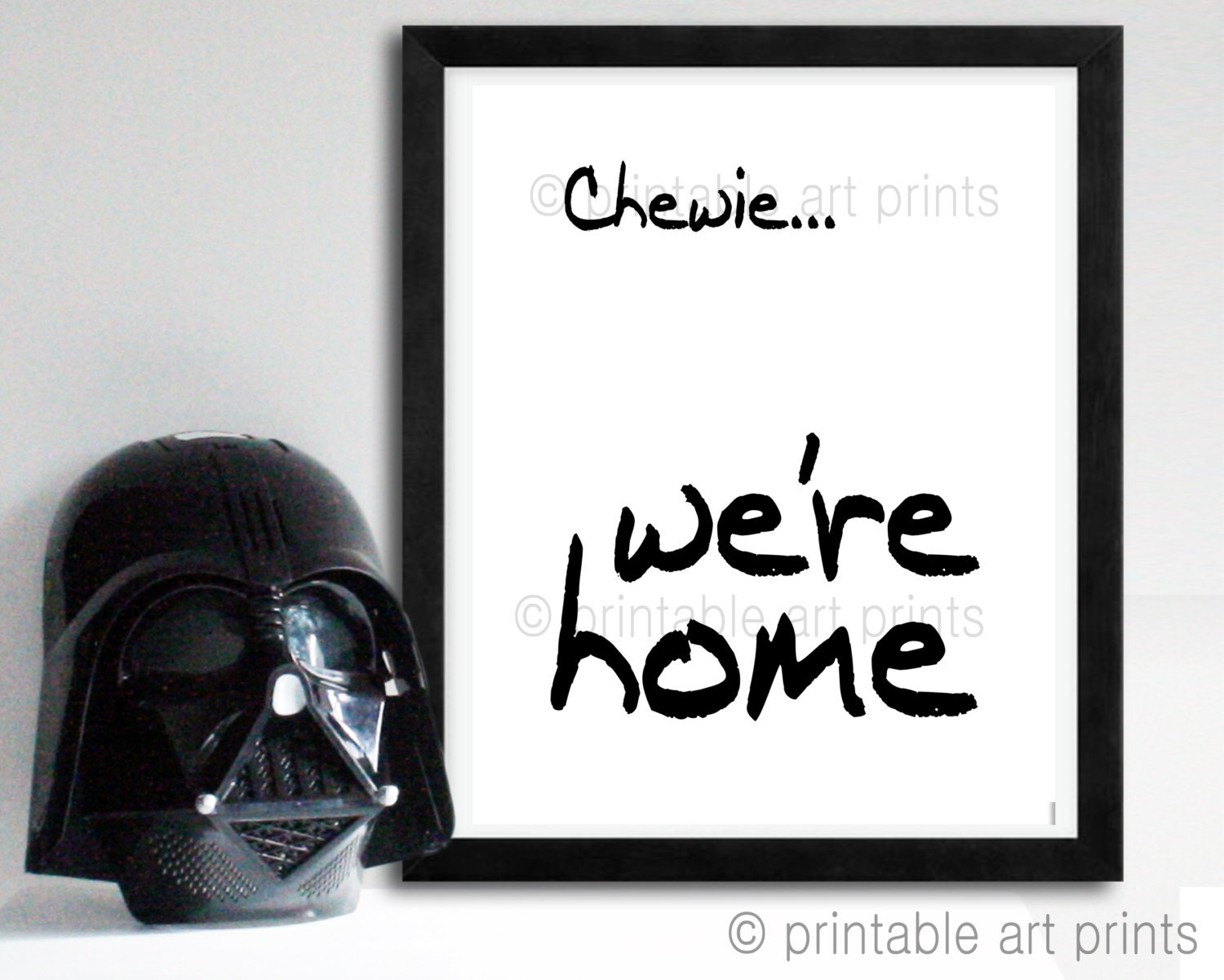 Star Wars Printable Art. The Force Awakens Quote Movie Quote