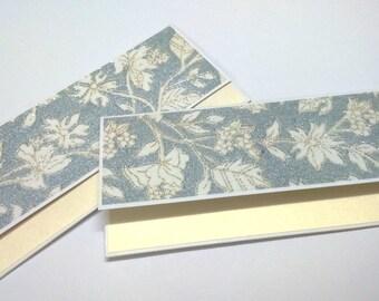 Money Envelope ( set of 5) SALE Gift envelope / Silver and cream / cash envelope /wedding envelope/card money holder /gift card holder