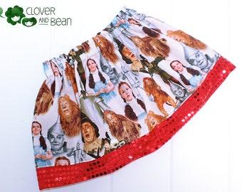 Wizard of Oz Skirt - Dorthy Skirt - Wizard of Oz Costume - Dorthy Costume - Wizard of Oz Birthday - Dorthy Birthday - Toddler Skirt