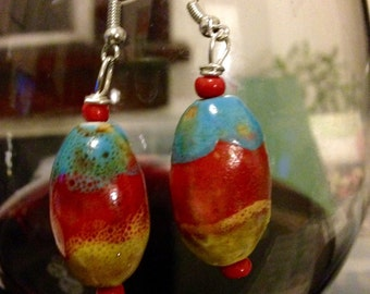 Fruit Punch Ceramic Earrings