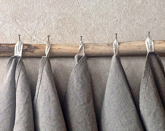 Eco friendly Towels (12), Rustic Linen Towels, Pure linen towels, Grey flax towels, Organic linen tea towel made in the US