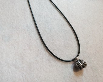 Brain Choker Necklace on Black Cord Zombie Psychobilly Goth