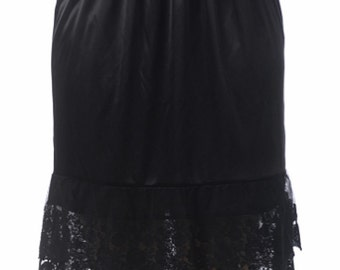 Lace Slip Extender for Skirts - Black