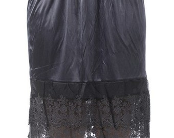 Lace Slip Extender for Skirts - Charcoal Gray