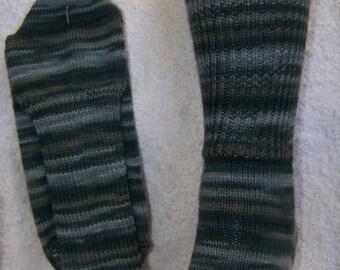 Olive Green Tones Superwash Socks