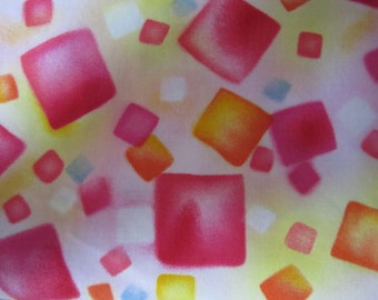 cotton fabric abstract squares