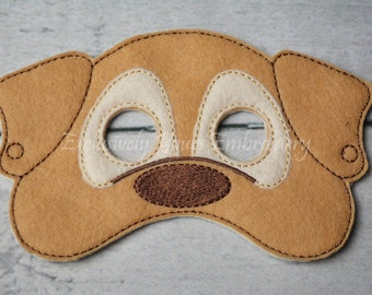 Puppy Children's Mask  - Costume - Theater - Dress Up - Halloween - Face Mask - Pretend Play - Party Favor
