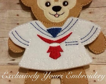 Best Friend Bear Felt Paper  Paper Doll - Party Favor - Pretend Play - Quiet Game - Travel Toy - Flat Doll - Paper Doll - Dress Up Doll