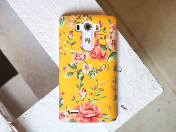 Floral Lg G3 Case, floral LG G6 Case LG G4 case iPhone 7 Case Galaxy S7 Case Floral LG G6 case yellow iPhone 6 case Galaxy Note 8 case