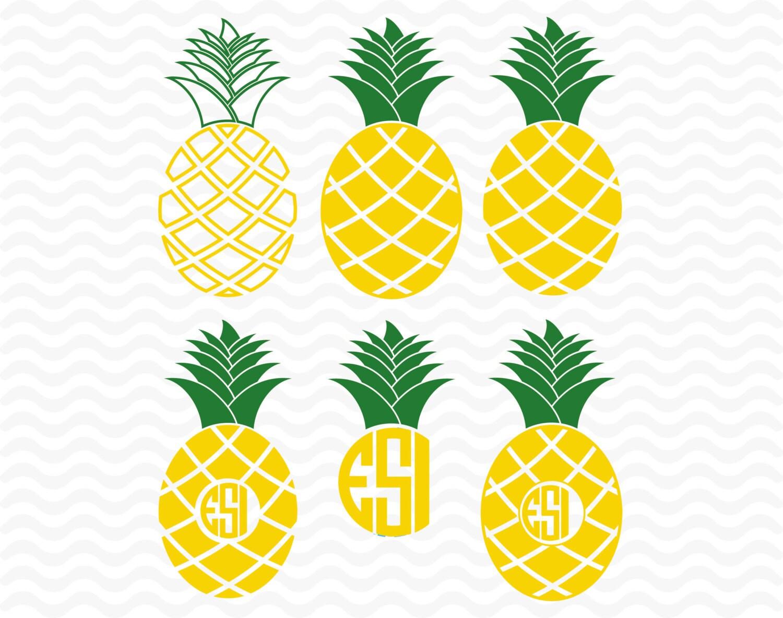 Download Pineapple monogram designs SVG DXF EPS Vinyl by ...