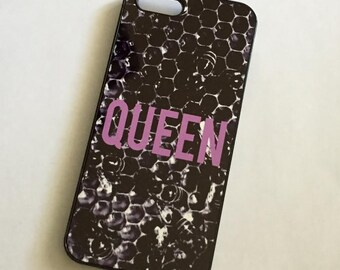 Queen Bee Hive Phone Case for the iPhone and Galaxy