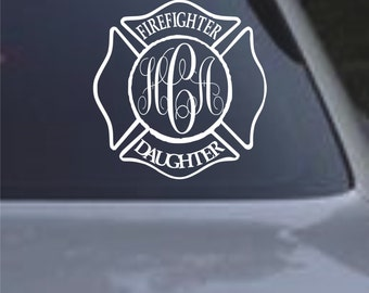 Firefighter Daughter Car Decal lots of colors and sizes Firefighter's Daughter