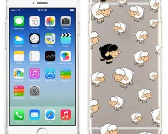Black Sheep iPhone 7 Case, iPhone 7 Plus Loaded sheep, iPhone 6 Clear Cover iPhone 6 Plus, iPhone 5/5s, iPhone 5c Transparent case