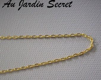 5 metres of chain Golden Link 3 x 2 mm - the Secret Garden