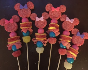 12 candy kabob minnie mouse inspired candy sticks