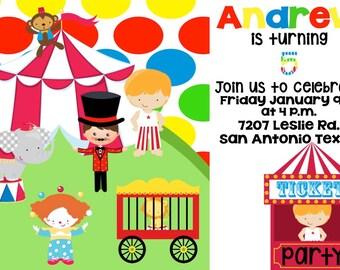 Circus Digital Invitation