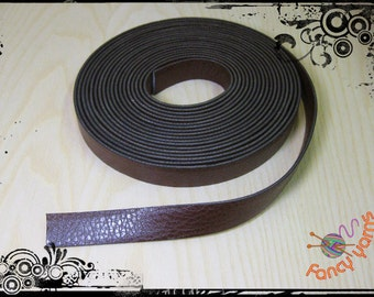 Belt in brown leather, 20 mm