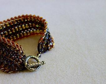 Triple flat spiral stitch bracelet