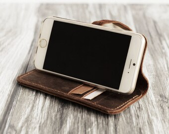 IPhone 6 wallet Case Leather iPhone 6 plus case Engraved iPhone 6s case iPhone 6s Plus Case Wallet, iPhone 5s casedistressed brown
