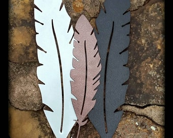 "Metal Bird Feather: 12"", 18"", or 24"""