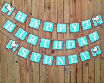 Mermaid Birthday Banner - under the sea - girl birthday - decorations - party supplies