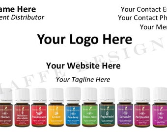 Customizable Business Card for Essential Oils Consultant - DIGITAL FILE