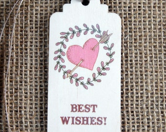 Wooden Printed Gift Tags - Best Wishes