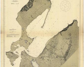 Dutch Harbor Map - Alaska 1911