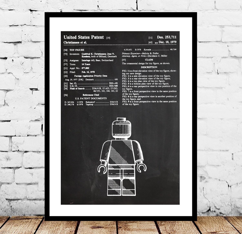 Lego poster lego figure patent lego blueprint lego figure zoom malvernweather Choice Image