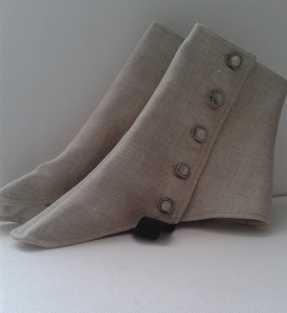 Edwardian Men's Accessories Gentlemens Spats $58.00 AT vintagedancer.com