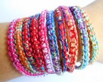 10 Tie Die Friendship Bracelets friendship bracelets square knot bracelets bulk bracelets wholesale bracelets party favors knotted bracelets