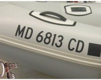 Boat lettering, registration numbers (3inch)