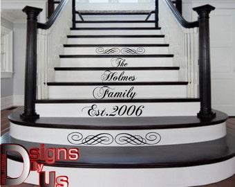 Custom stair lettering family name