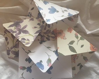 4 Pack of Handmade Spring Envelopes