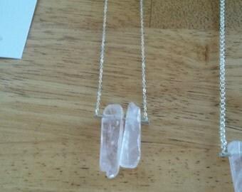 Double Rose Quartz Necklace