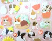 Cute stickers - puppy stickers - Korean stickers - kawaii stickers - 3D puffy stickers - dog breed stickers - corgi sticker - poodle sticker