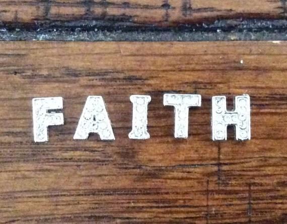 FAITH, HOPE, LOVE - Alloy Charm Sets for Floating Lockets