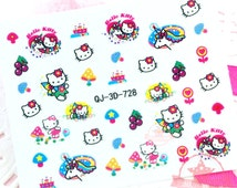 Hello Kitty Self Adhesive Colorful Nail Art Stickers Transfer Decals #N8-12