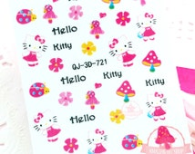 Hello Kitty Self Adhesive Colorful Nail Art Stickers Transfer Decals #N8-05