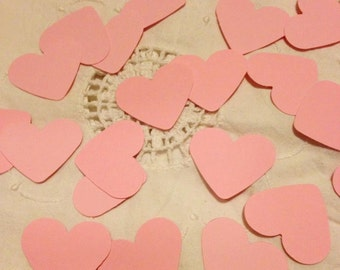 Large Baby Pink Heart Table Decoration, Event Confetti, Table Scatters, Baby Shower, Wedding
