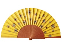 Polka Dots Hand Fan