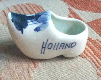 Blue Delft Pottery clog