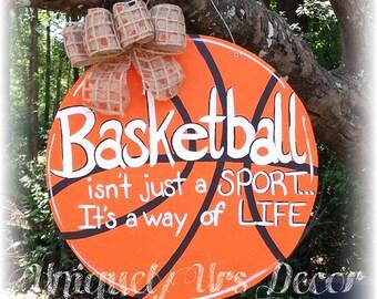 Basketball Door Hanger, Door Hanger, Basketball